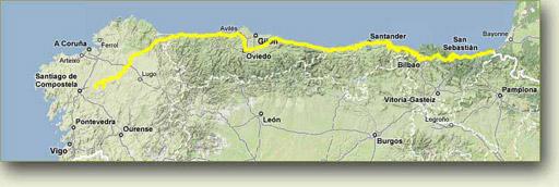 Camino del Norte. Guía y noticias del Camino de Santiago del Norte